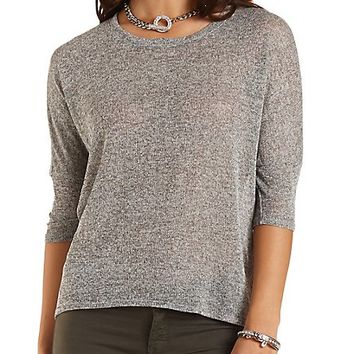 Marled High-Low Dolman Top by Charlotte Russe