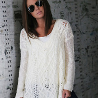 Jagged Cream Knit