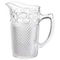 Baroque Scroll Pressed Glass Pitcher