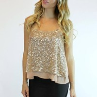 After Party Top in Gold | YA Los Angeles