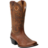 10014025 Ariat Men's Sport SQ Toe Western Boots from Bootbay, Internet's Best Selection of Work, Outdoor, Western Boots and Shoes.