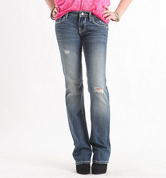 Boot Flap Rhinestone Jeans