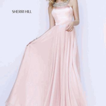 Sherri Hill Prom 2015 Style 11150 Size 6 Blush/Silver or Size 8 Ivory/silver