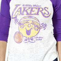 Little Miss Lakers Burnout Thermal By Junk Food