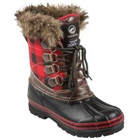 Tamarack Women's Red Plaid Bean Boots (Size: 6) at Blain's Farm & Fleet