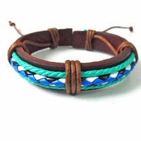 Jewelry bangle leather bracelet men bracelet women bracelet girls bracelet made of ropes and leather cuff bracelet SH-1453