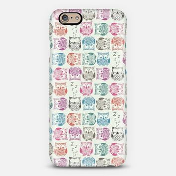 Light Sherbet Owls iPhone 6 case by Sharon Turner | Casetify