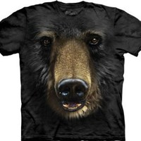 The Mountain Black Bear Face Mens T-shirt