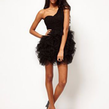 Opulence England Lace One Shoulder Ballerina Dress at asos.com