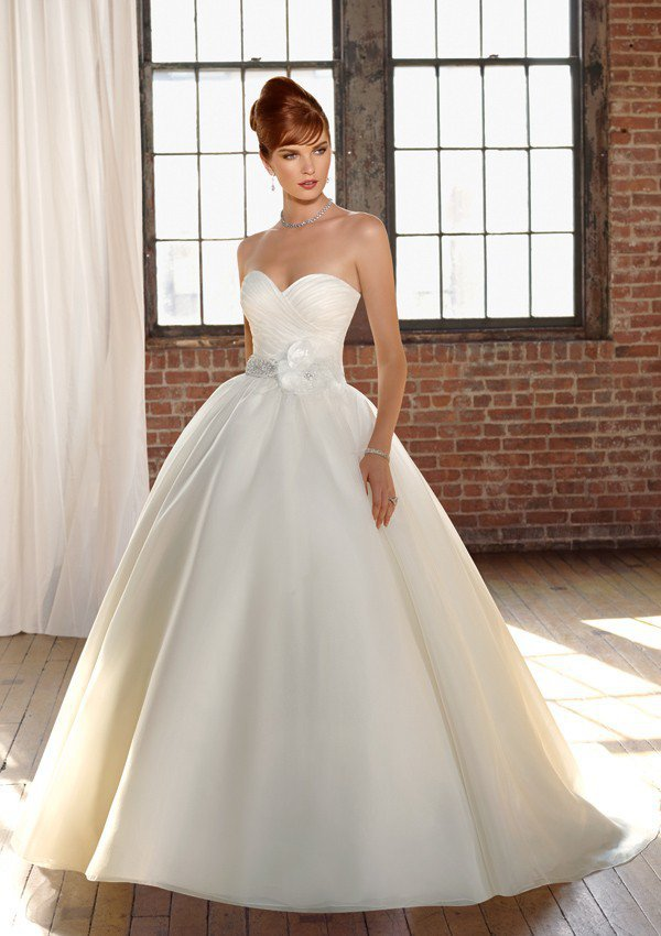 Organza with beaded sash Sweetheart Floor Length Ball Gown Dress Style 4808  $127.63 only in eFexcity.com.