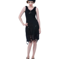 Unique Vintage Black Hemingway Flapper Dress