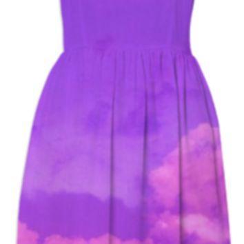 Purple Sky Summer Dress created by ErikaKaisersot | Print All Over Me