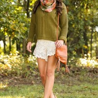 Take Me There Sweater-Olive