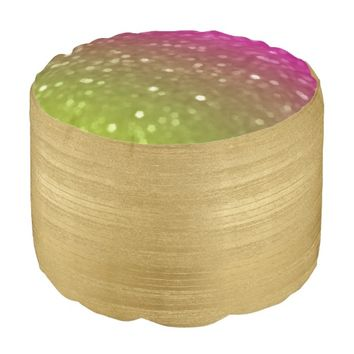 Gold And Pink Giltz Pouf