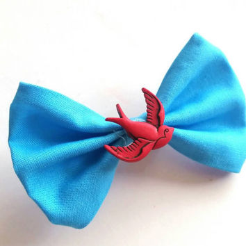 Rockabilly Swallow Hair Bow