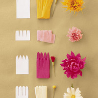 Continuous-Petal Method - How to Make Crepe-Paper Flowers - DIY Weddings - MarthaStewartWeddings.com
