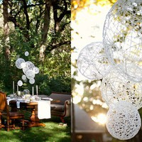 Ruffled?- | Do-it-Yourself DIY String Wedding Lanterns Yarn Chandeliers
