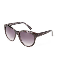 FOREVER 21 Oversized D-Frame Sunglasses Brown/Clear One