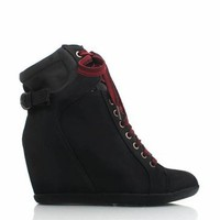 wedge-sneakers BLACK CHESTNUT GREY - GoJane.com