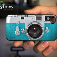 Vintage Camera iPhone 4 4s Hard Case - Teal Camera - Phone Cover