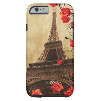 Eiffel Tower with Red Roses