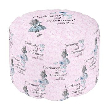 Alice in Wonderland Curiouser Butterfly Pink Pouf