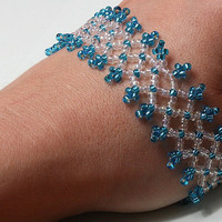 Something blue stretchable bracelet