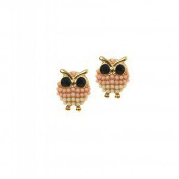 Cotton Candy Owls Earrings