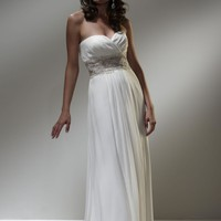 Beautiful Strapless Wedding Gown Sweetheart Neckline Empire Waist Sheer Lace Crystal Beading YSPWD0025 - $128.99 : Maxnina.com