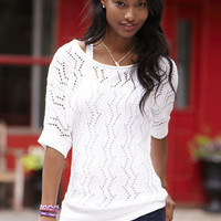 Emily Pointelle Tunic Sweater