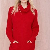 Ring the Alarm Sweater Dress