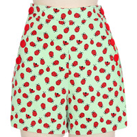 Ladybug High-Waist Pin-Up Shorts