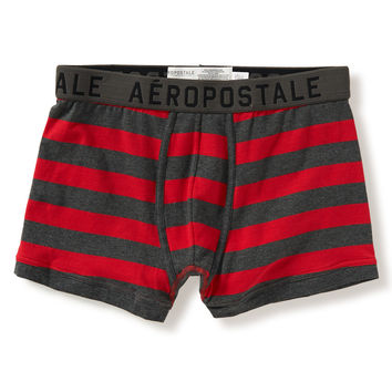 Aeropostale Striped Knit Trunks - Red Sky,