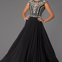 Embellished Floor Length JVN by Jovani Gown