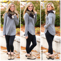 The Perfect Long-Sleeved Tunic - H. Grey - H. Grey /