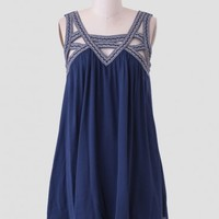 Bay Bridge Embroidered Dress