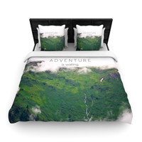 "Ann Barnes ""Adventure is Waiting"" Mountain Woven Duvet Cover"