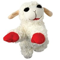 Multipet INTERNATIONAL 843140 Lambchop Plush Squeak Toy Mini for Pets, 6-Inch
