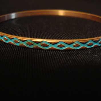 70s Turquoise banglet