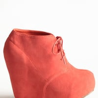 Coral Collaboration Wedge Bootie - $45.00 : ThreadSence.com, Free-spirited fashion for the indie-inspired lifestyle