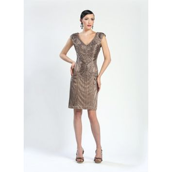 Sue Wong, Come and Get Me, an Art Deco inspired Sheath Dress