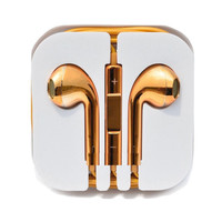 Gold Tone iPhone Headphones - Gold Tone iPhone Headphones