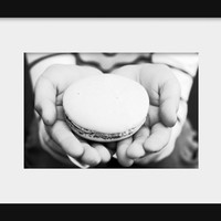 food photography French macaron Paris decor black and white photography print art dining room decor food art 4x6 5x7 6x8 8x10 10x15