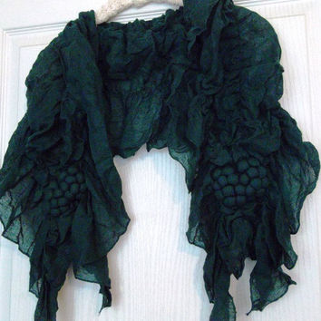 Green -  Elegance - Cotton Shawl  Scarf