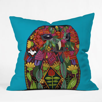 Sharon Turner Tawny Owl Throw Pillow ~ 10% off with code: sharonturner