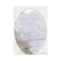 Imperfect Periwinkle Blue Chalcedony Natural Stone Large Oval Cabochon