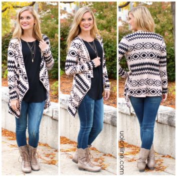 Lost Nations Cardi - TAUPE /