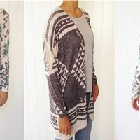 High quality USA golden shimmer tribal cardigan S to XL
