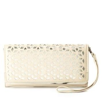 Laser Cut-Out Wristlet Wallet by Charlotte Russe
