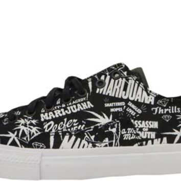 Diamond Supply Reefer Madness Brilliant Low Black White